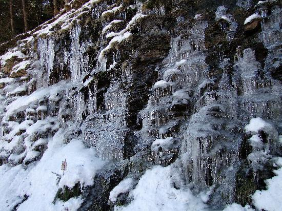 Berchules, Spain: Ice in the mountains