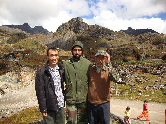 Tawang, India: Taken with the Guards of our precarious border