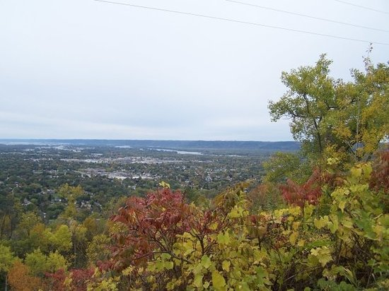 La Crosse, WI: View of LaCrosse, Wis. from Grand daddy Bluff.