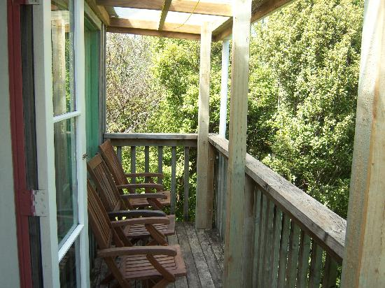 Fern Lodge: A deck on our cottage