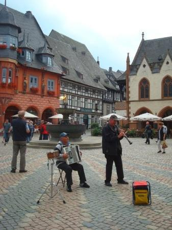 Goslar, Germany: They played When the Saints Go Marching In, if that's the name of that song.