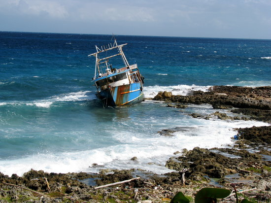 Bulls Bay near Lucea Ship from Hurricane Gustav