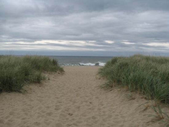 Old Orchard Beach, Мэн: View of the ocean