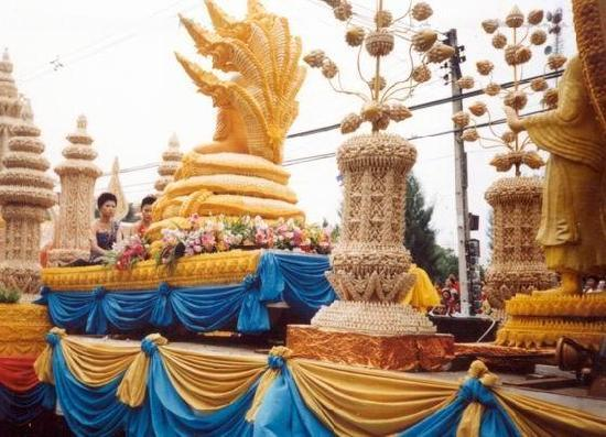 Nakhon Ratchasima, Thailand: Parade in Candle Festival in Korat