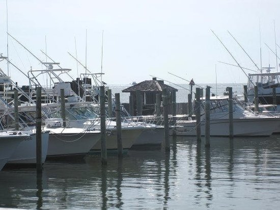 Hatteras Island, Caroline du Nord : The marina in Hatteras 