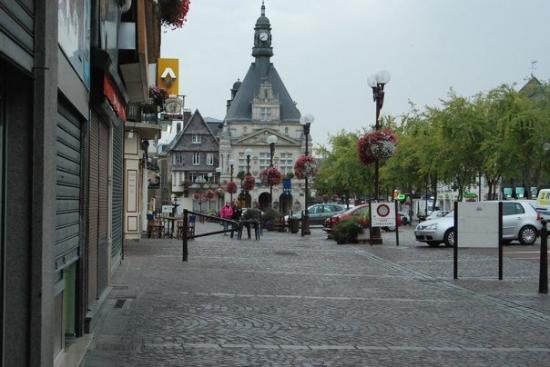 Lookng Back Towards The Church Square In Peronne France