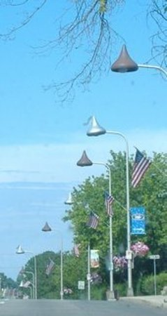 Hershey Kisses leading the way home.