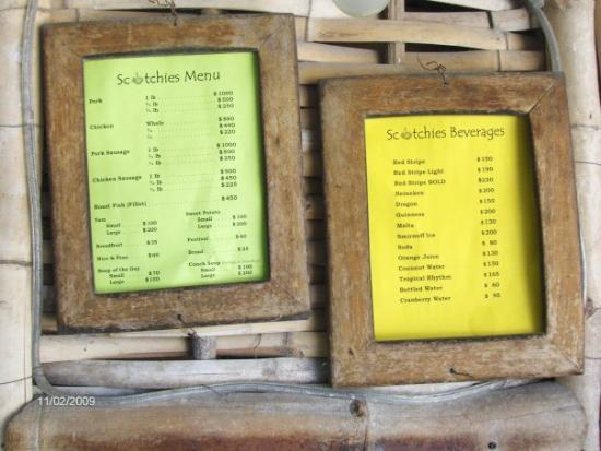 Scotchies Menu Picture Of Scotchies Montego Bay