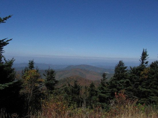 Johnson City, TN: View from Roan Mountain parkin lot