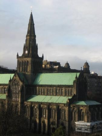 View Of Glasgow Cathedral From The Top Of The Necropolis