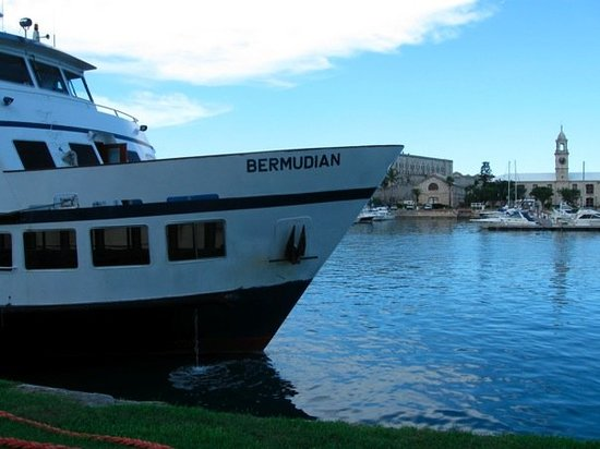 : The ferry at the Royal Dockyard, Bermuda