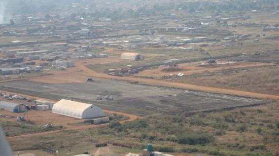 Juba from the air, Sudan