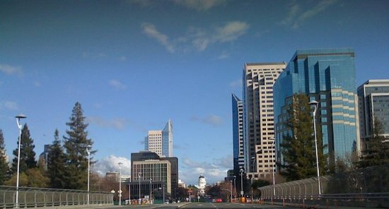 Sacramento, Californië: Downtown Sactown with the state capitol.