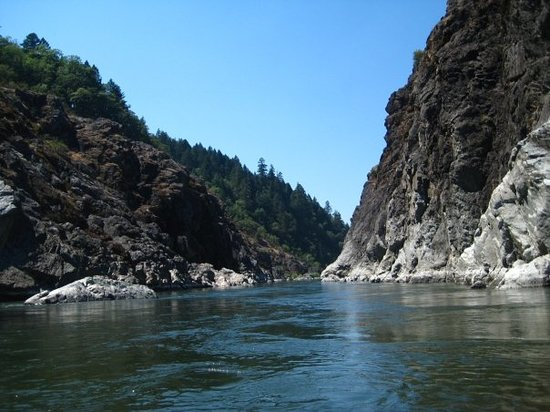 Grants Pass, OR: Hellgate Canyon, the cliffs here are about 75&#39;