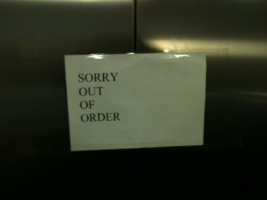 Chelmsford, UK: Lifts perpetually out of order