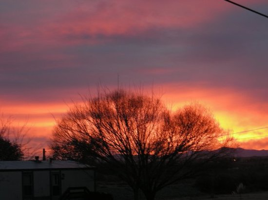 Truth or Consequences, NM: Sunset from my back porch