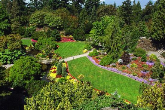 Butchart Gardens In Brentwood Bay British Columbia Canada Near Victoria On Vancouver Island