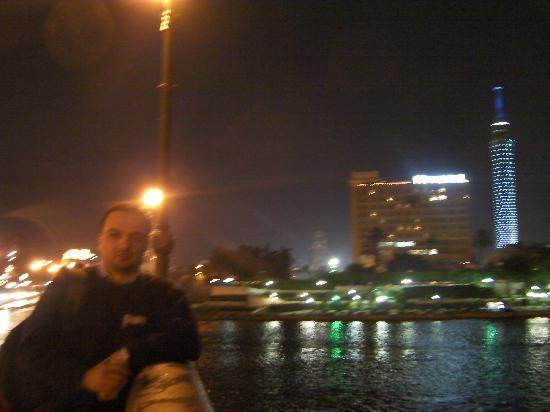 "Novotel Cairo El Borg: from the ""Qasr El Nile"" bridge"