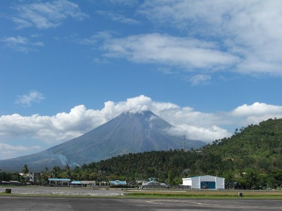 Donsol, Philippines: Mayon volcano from Legaspi airport