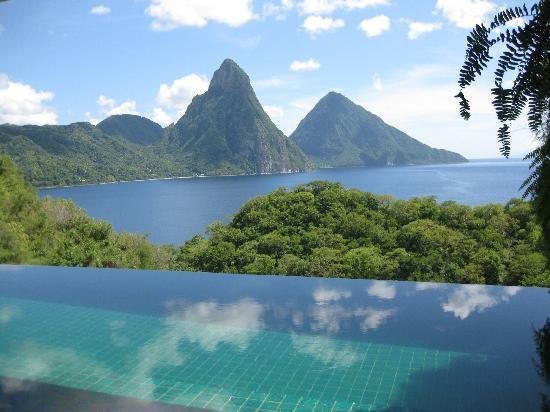 Jade Mountain Resort: View from my room 4C