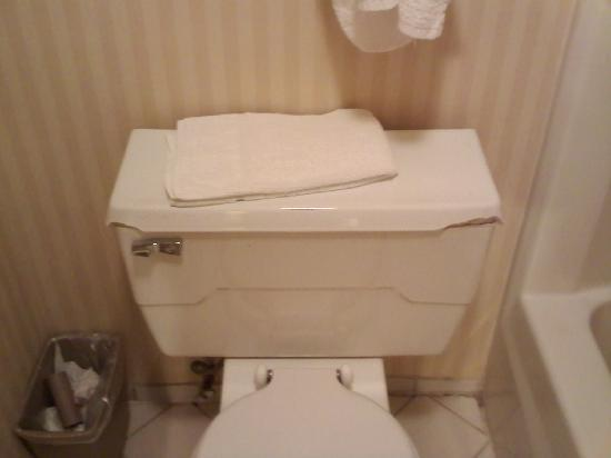 Days Inn Hartford: corners of toilet top broken off