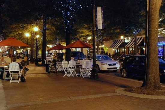 , : Downtown Fayetteville at night
