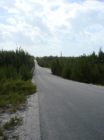 Surfers Manor: Main road on Eleuthera