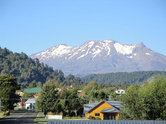 Ohakune Court Motel: View of mountain from room.