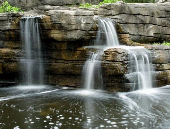Man Made  A manmade waterfall. Thought it was very peaceful sounding