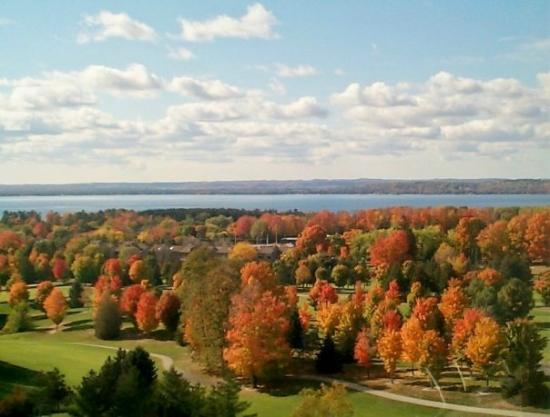 Traverse City, MI: View from Grand Traverse in Oct. 2008