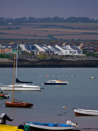 the white cottages from skerries harbour