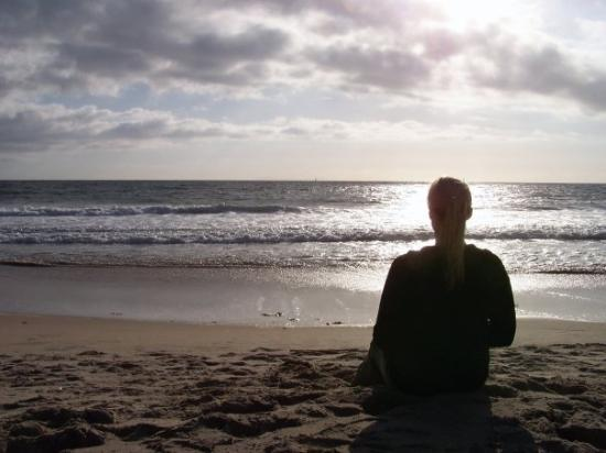 Monarch Beach, CA: Me staring out to sea on Monarch Coast Beach, CA. We lived a mile from here. I soooo miss the oc