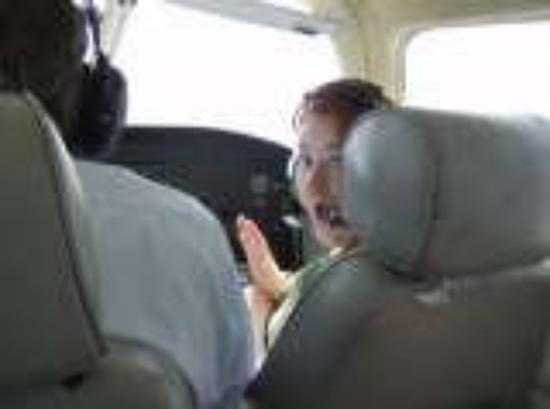 , : NJ Eric&#39;s grandpa taking us up in a plane!