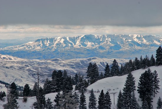 Boise, Idaho: View from front side of ski area