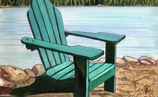 adirondack chair by lake picture of indian lake new york