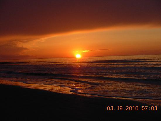 Marriott's Grande Ocean: One of many beautiful sunrises on the beach