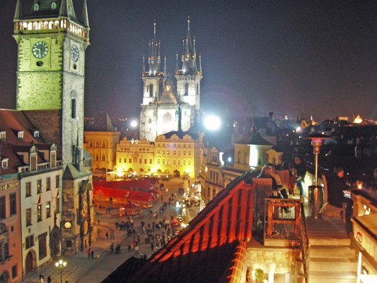 La vue picture of terasa u prince prague tripadvisor for Terrace u prince prague