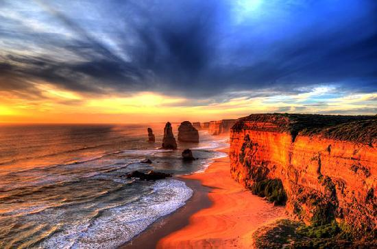 Victoria, Australia: Twelve Apostles at Sunset