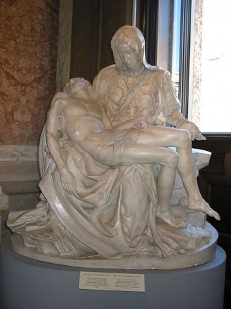 compare michelangelo pieta The pieta was commission from michelangelo for the french cardinal jean de bilheres it is currently housed in st peter's basilica, vatican city, rome.