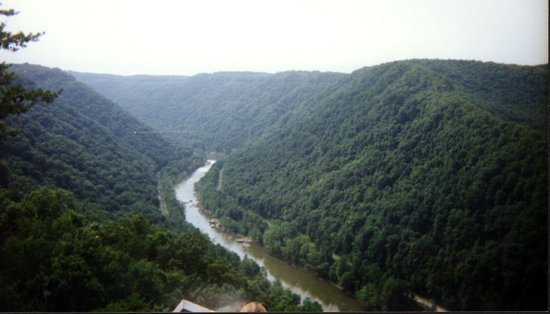 The New River.  Fayetteville, WV