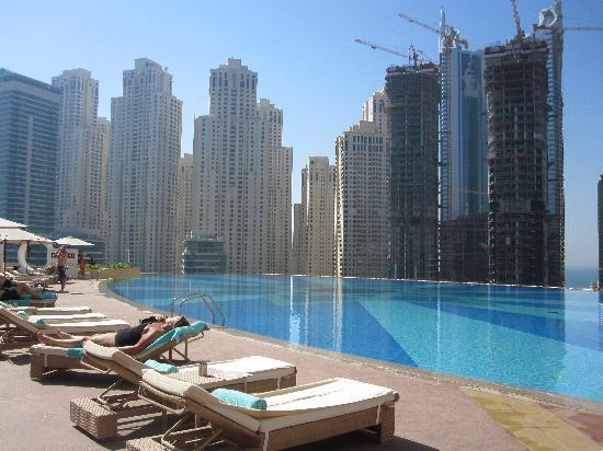 Stunning pool overlooking marina picture of the address The address dubai marina swimming pool