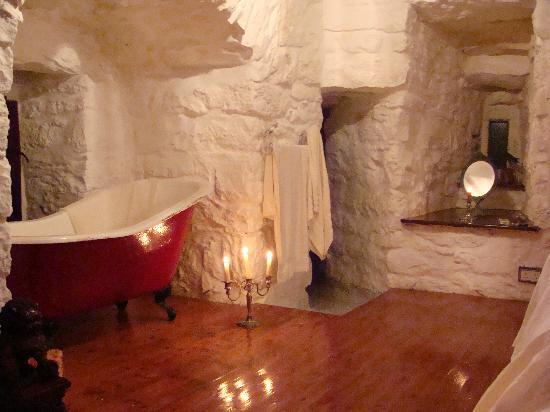 In the master bedroom the beautiful tub the entrance to the turret shower it gets higher in Entrance to master bedroom