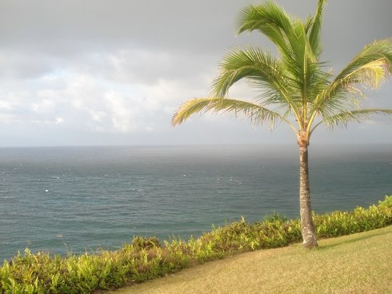 Princeville, : the view from our condo in Princeville.