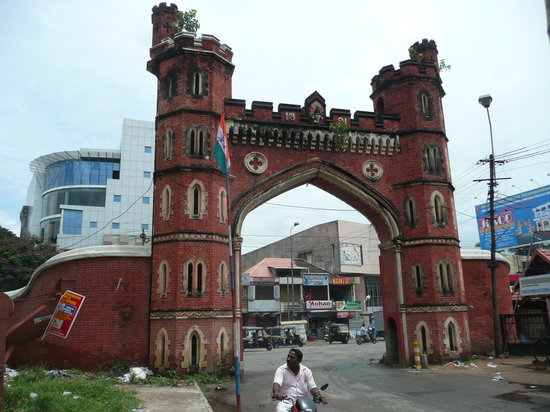 Thiruvananthapuram (Trivandrum), India: gate est fort