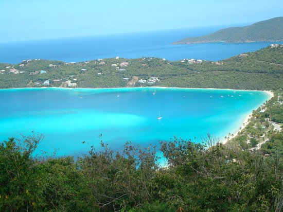 St. Thomas: View of Magens Bay from Drake's Seat