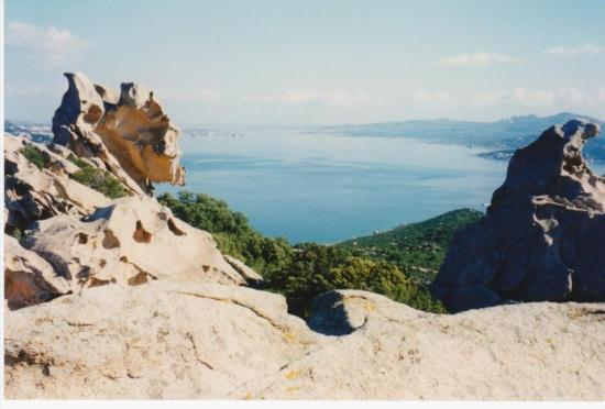 Palau, Italy: From the backside