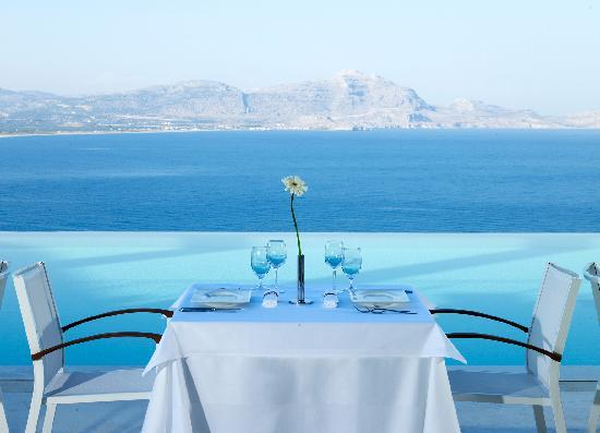 Lindos Blu: Breakfast at Smeraldo A'la carte Restaurant