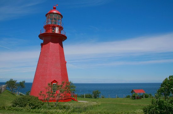 Quebec, Canad: phare de la Martre