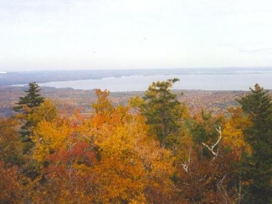 Sebago Lake from Douglas Mt.  in Sebago, ME