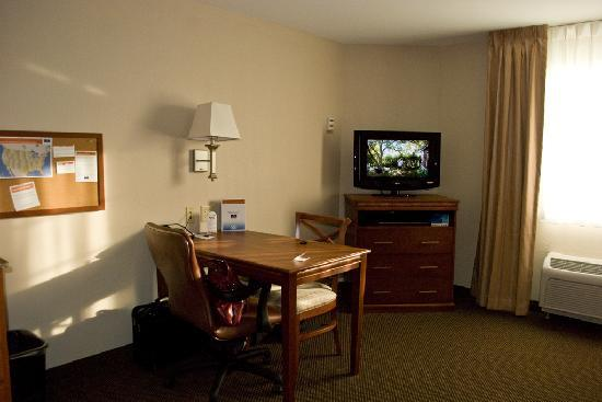 Candlewood Suites Lafayette: A view of the entertainment and working area